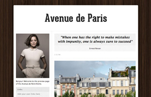 Avenue de Paris Free Tumblr Theme