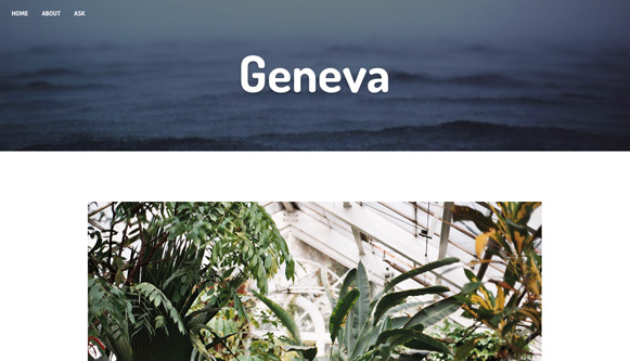 Geneva Tumblr Theme