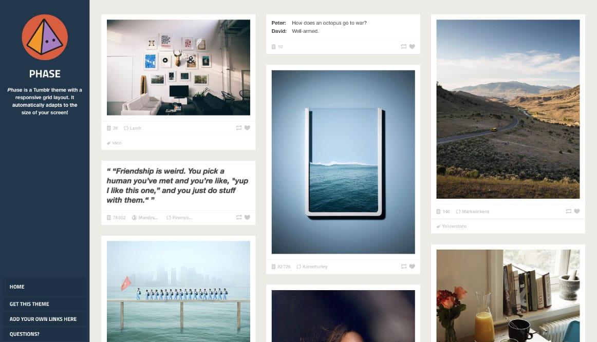 Free and Premium Tumblr Themes | STJN co